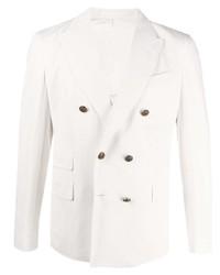 weißes Zweireiher-Sakko aus Baumwolle von Eleventy