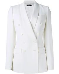 weißes Zweireiher-Sakko von Dolce & Gabbana