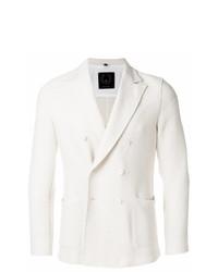 weißes Zweireiher-Sakko von T Jacket
